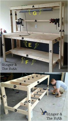 Woodworking bench how to build _ woodworking bench garage workbench, woodworking bench plans, woodworking bench diy, woodworking bench traditional, woodworking bench how to b bench plans work stations Woodworking Bench How To Build Woodworking Woodworking Bench Plans, Easy Woodworking Projects, Woodworking Furniture, Wood Furniture, Woodworking Classes, Woodworking Machinery, Woodworking Basics, Woodworking Chisels, Woodworking Techniques