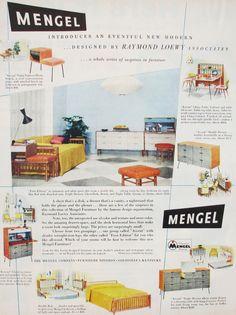Original Megel Furniture Ad For Raymond Loewy Ociates Line Raymondloewy Mengel
