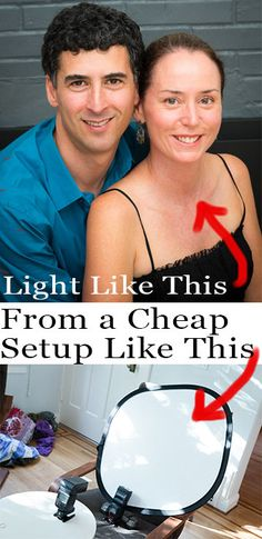 The MacGyver Clamshell Light: Clean lighting in a pinch!