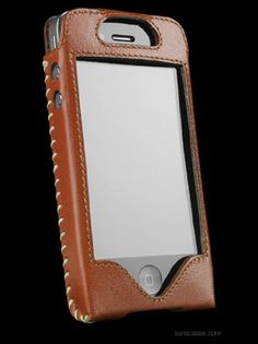 Sena 157277 Sarach Leatherskin  Leather Case for iPhone 4  4S  1 Pack  Carrying Case  Retail Packaging  TanCream * See this great product.
