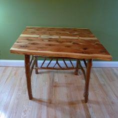 Delightful Handmade Eastern Red Cedar And Crepe Myrtle Table By GrabAStool