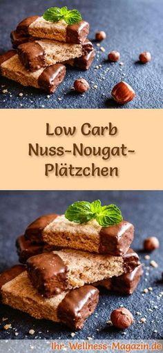 Low-Carb-Weihnachtsgebäck-Rezept für Nuss-Nougat-Plätzchen: Kohlenhydratarme, kalorienreduzierte Weihnachtskekse - ohne Getreidemehl und Zucker gebacken ... #lowcarb #backen #weihnachten