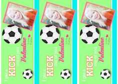 Kids Soccer Valentine's Day Card by nattysuedesigns1 on Etsy, $15.00