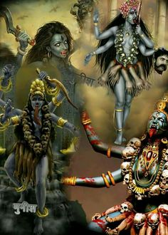 Indian Goddess Kali, Durga Goddess, Indian Gods, Goddess Art, Maa Kali Images, Durga Images, Shiva Hindu, Hindu Deities, Kali Shiva