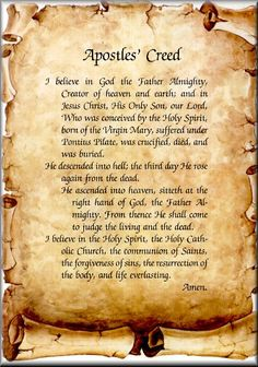 Apostles Creed | Apostle's Creed