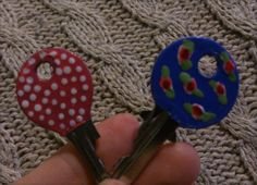 llaves decoradas con esmalte de uñas #esmalte #llaves #decorar #diy