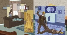 Here by Richard McGuire: An artist conjures the changes that occur over billions of years in his childhood living room.