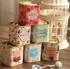 Wholesale Gift Wrap - Buy Sweet Spring Flower Tea Tin Box/ Gift Tin/ Packaging Box/ Kids Bag Pouch/ Wedding Gift, $3.26 | DHgate
