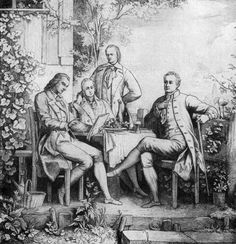 Revolutionary thinkers and poets of their time: Friedrich Schiller, Wilhelm and Alexander von Humboldt, and Johann Wolfgang Goethe in Jena. Repinned by www.gorara.com