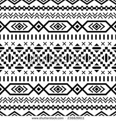 Find Ethnic Seamless Pattern Aztec Blackwhite Background stock images in HD and millions of other royalty-free stock photos, illustrations and vectors in the Shutterstock collection. Motif Navajo, Navajo Print, Art Indien, Fabric Design, Pattern Design, Pattern Art, Tumblr Flower, Black And White Background, Black White