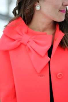 kate spade bow jacket. just fab.