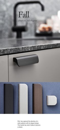 The stunning Furnipart Fall! Available in 3 various lengths and finishes, including brushed bronze, brushed black & inox!