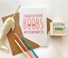 New Boobs Greeting Card £3.00