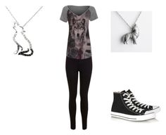 """""""my look"""" by crystal-clear-killer ❤ liked on Polyvore featuring moda, Miss Selfridge y Converse"""