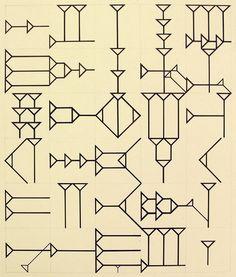 Tauba Auerbach Ugaritic Alphabet 2006 Ink and pencil on paper Surface Pattern, Surface Design, Textures Patterns, Print Patterns, Tauba Auerbach, Artwork Images, Art Plastique, Pattern Design, Graphic Design