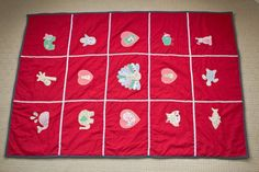 Hand made Animal Appliqué Play Mat  with hippo, elephant, giraffe, shark, turtle, whale, penguin, owl, peacock, bunny rabbit and chicks!