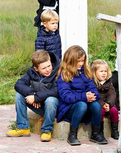anythingandeverythingroyals:  Prince Vincent, Prince Christian, Princess Isabella and Princess Josephine, children of Crown Prince Frederik and Crown Princess Mary of Denmark, August 2014