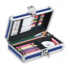 Fort Knox for your art supplies! Secure and protect your stuff! Projects For Kids, Art Projects, Fort Knox, Splash Page, Pencil Boxes, Blue Art, Consumer Products, Art Supplies, 5 D