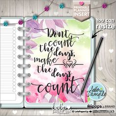 ★New listing! Printable planner insert - Inspirational quote - dashboard