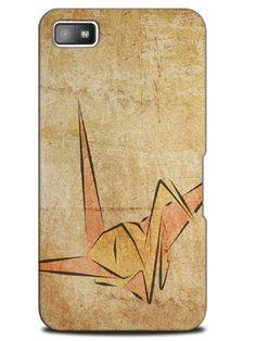 Vintage Paper Crane Sketch Art Case Cover Design for Blackberry