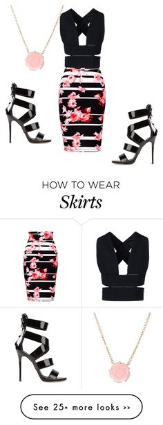 """Black top & Floral skirt"" by loveisablindwar on Polyvore"