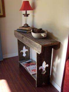 Console Table. Entry table. Fluer De Lis Furniture. Reclaimed Wood Furniture. Eco Decor. Sofa Table. Wood Table.. $275.00, via Etsy.