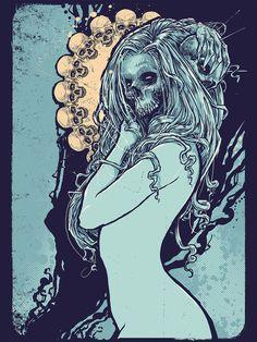 """Nurture Death"" by Godmachine, Image via http://sirenknights.tumblr.com/"
