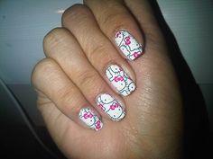 Hello Kitty nail wraps. Fun Nails, Pretty Nails, Hello Kitty Nails, Nail Wraps, Cool Nail Art, Mani Pedi, My Style, Art Ideas, Makeup
