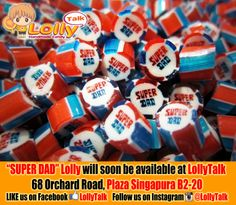 Super Dad Lolly found in the SUPER DAD MIX available soon at LollyTalk. #superdad #fathersday #handmadecandy #rockcandy #lolly #candy #sweet #bonbon