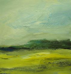 My new paintings: Yellow fields # 2 - Parastoo Ganjei