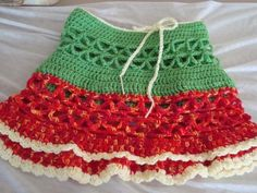 Crocheted Bright Fun Womens Beach Skirt. $23.99, via Etsy.