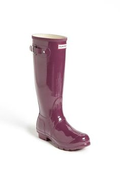 Hunter 'Original Tall' Gloss Rain Boot (Women) available at #Nordstrom - LOVE these boots, especially in aqua, pink, or purple!
