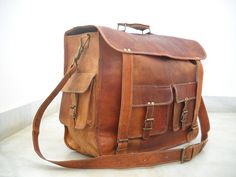 Leather Messenfer Bag 19 Inches Long 15 Inches by LeatherJoy, $107.00