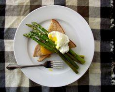 Roasted Asparagus & Poached Eggs on Toast