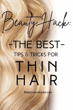 Hair Thinning tips and tricks that work for women! Real tips for young to middle aged women struggling with hair shedding and thin hair/fine hair. Learn how to grow more hair, utilize hair styles for thin hair and more with thin hair help. You're not alone in this! #thinhair #hair #hairgoals Medium Hair Styles, Natural Hair Styles, Long Hair Styles, Beauty Makeup Tips, Beauty Hacks, Thin Hair Tips, Make Hair Thicker, Hacks Every Girl Should Know, Hair Shedding