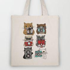 Cats Love Cameras Tote Bag by Andrea Lauren - $18.00
