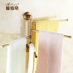 38.99$  Buy here  - European antique copper full activity towels towel hanging bar towel rack retro hotel restaurant luxury decor free shipping