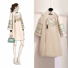 Ideas For Fashion Week Dresses Girls Asian Fashion, New Fashion, Trendy Fashion, Oriental Fashion, Fashion Design Drawings, Fashion Sketches, Fashion Drawing Dresses, Fashion Dresses, Korean Outfits
