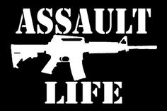 Assault Life Ar-15 Decal, Car Decal, Pro Gun Sticker, Assault Life Sticker, Ar-15 Sticker, Laptop Sticker, Gun Decals, Vinyl, Car Stickers
