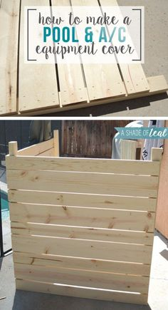 Pool Pump Shed Ideas dark wood enclosure with easy open top How To Build A Pool Or Ac Equipment Cover