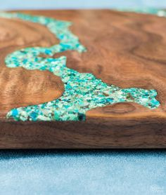 How to do turquoise inlay on wood