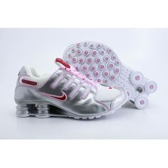 Nike Shox NZ White Silver Red Women Shoes  79.59 Nike Shox Shoes ab288224e7