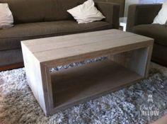 Steigerhouten meubelen salontafel strak