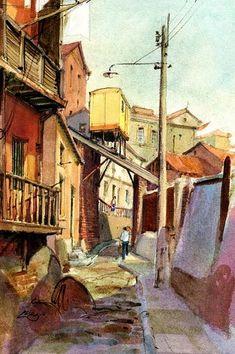 Watercolor Scenery, Sri Lanka, Landscape Paintings, Modern Art, Animation, World, City, Nature, Google
