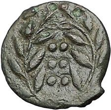 HIMERA in SICILY 415BC NYMPH & Success Wreath Genuine Ancient Greek Coin i55757