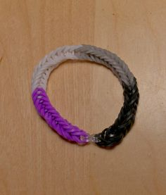 Asexual Pride Flag Loom Bracelet (Block) from AeronMadeThis on Etsy
