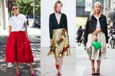 Manrepeller, upcoming and becoming increasingly popular is the full length tea skirt. Fashion designers such as Michael Kors, Oscar de la Renta, and Christopher Kane have displayed their own designs with the new upcoming trend that seems to becoming popular in the streets. Milena G