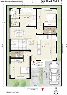 Home Room Design, Small House Design, Home Design Plans, Plan Design, Indian House Plans, New House Plans, Small House Plans, Duplex Floor Plans, Small Villa