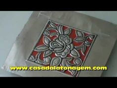 ▶ LATONAGEM LACE - YouTube Removing the background of embossed metal