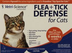 VetriScience Laboratories Flea and Tick Defense for Cats and Kittens, 12 Doses ** Click image to review more details. (This is an affiliate link and I receive a commission for the sales) #PetCats